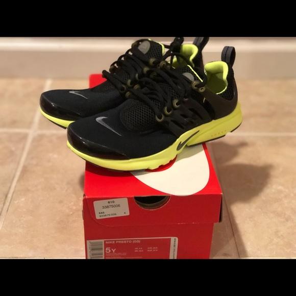 Nike Shoes | Presto Gs Black Lime